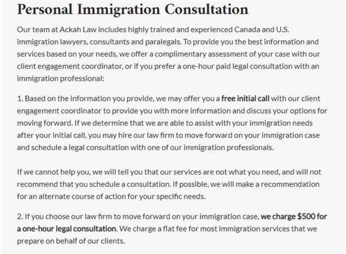 Ackah Immigration law Review
